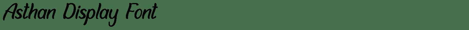 Asthan Display Font