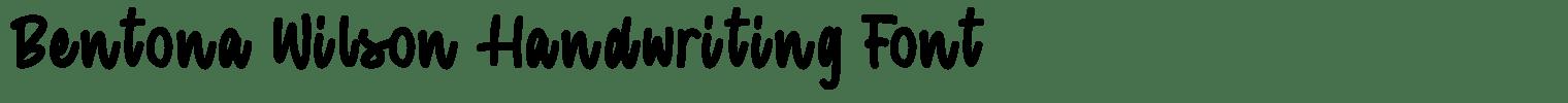 Bentona Wilson Handwriting Font