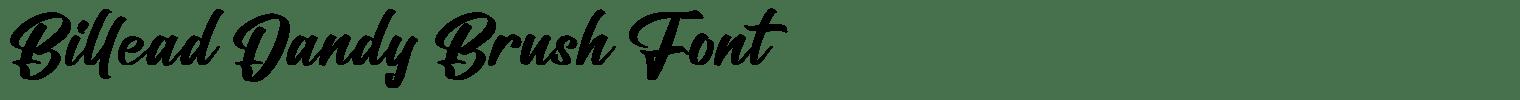 Billead Dandy Brush Font
