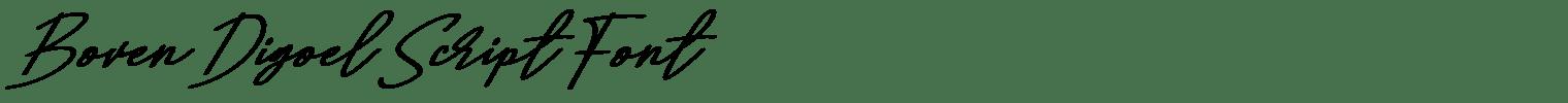 Boven Digoel Script Font