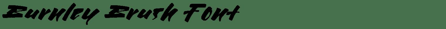 Burnley Brush Font