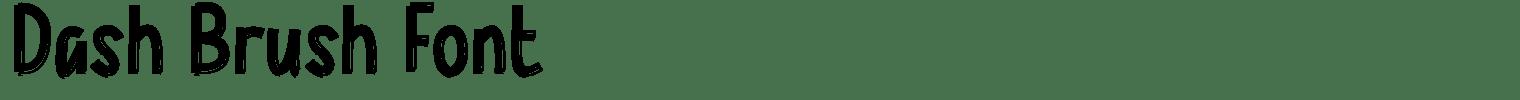 Dash Brush Font
