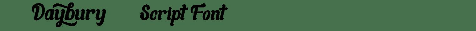 Daybury Script Font