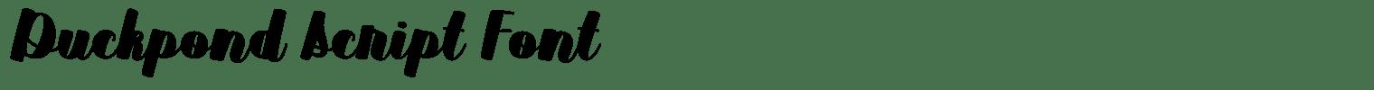 Duckpond Script Font