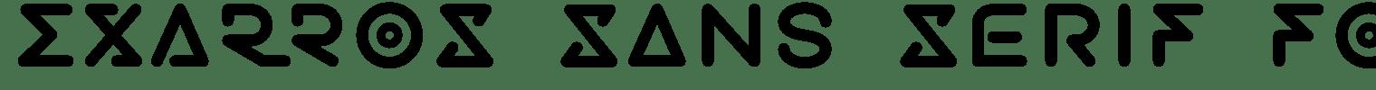 Exarros Sans Serif Font