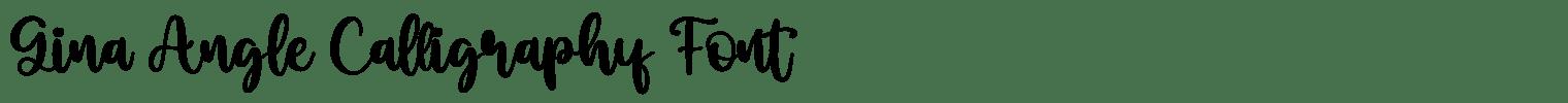 Gina Angle Calligraphy Font