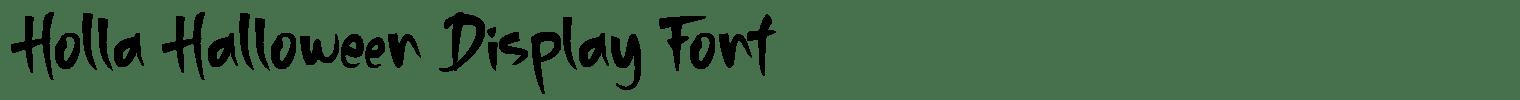 Holla Halloween Display Font