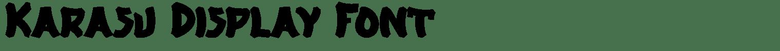 Karasu Display Font
