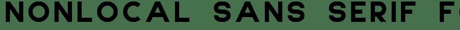 NONLOCAL Sans Serif Font