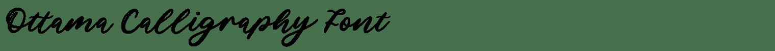 Ottama Calligraphy Font