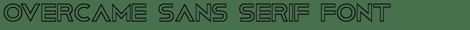Overcame Sans Serif Font