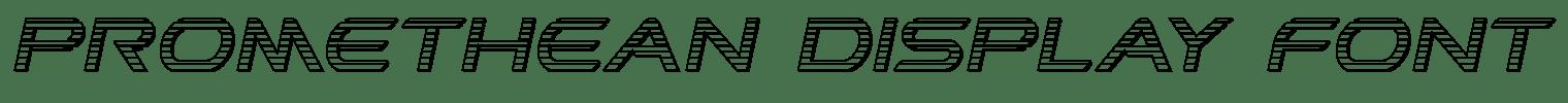 Promethean Display Font