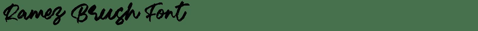 Ramez Brush Font