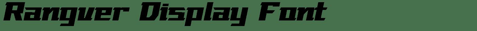 Rangver Display Font
