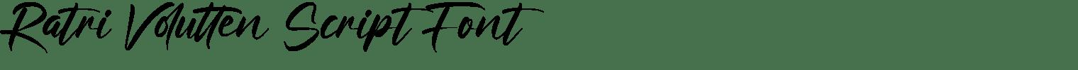 Ratri Volutten Script Font