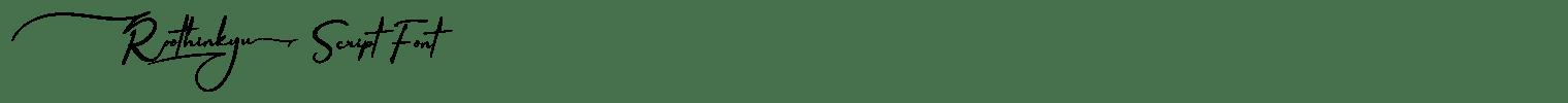 Roothinkyu Script Font