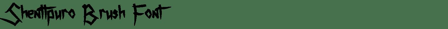Shenttpuro Brush Font