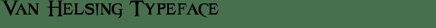 Van Helsing Typeface