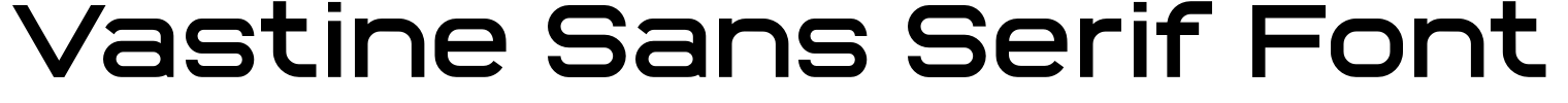 Vastine Sans Serif Font