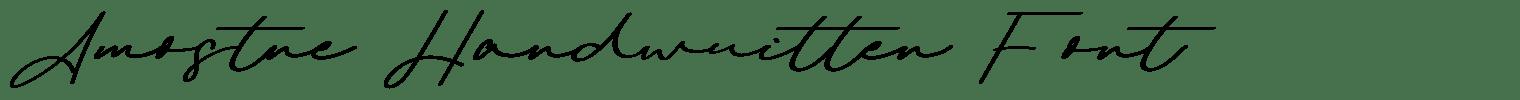 Amostne Handwritten Font