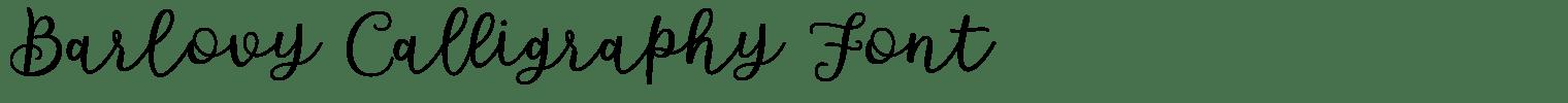 Barlovy Calligraphy Font