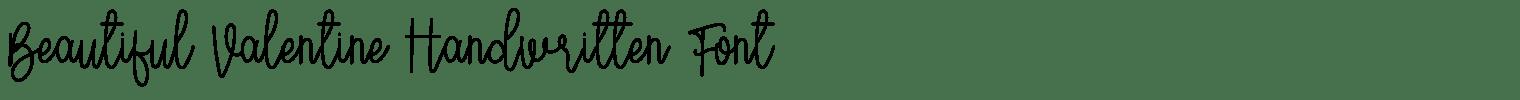 Beautiful Valentine Handwritten Font