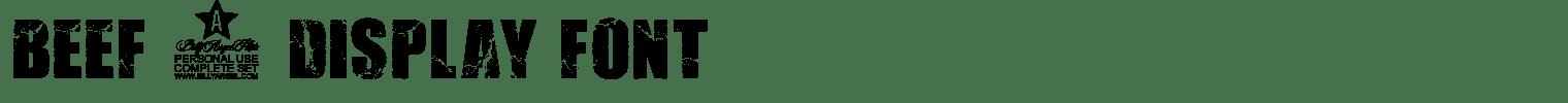 BEEF 3 Display Font