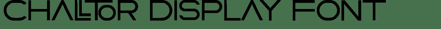 Challtor Display Font