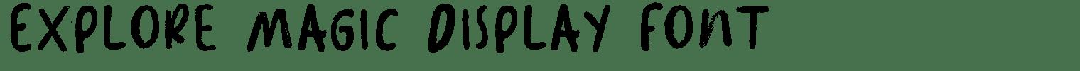 Explore Magic Display Font