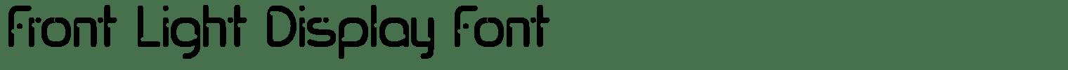 Front Light Display Font
