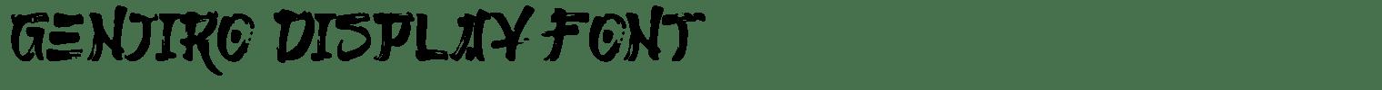 Genjiro Display Font