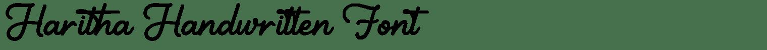 Haritha Handwritten Font