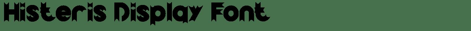 Histeris Display Font