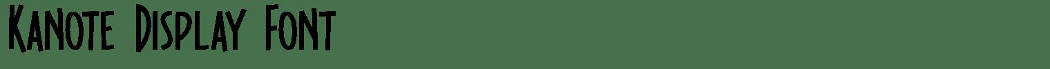 Kanote Display Font