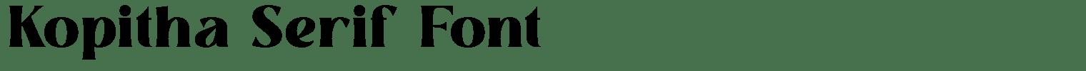 Kopitha Serif Font