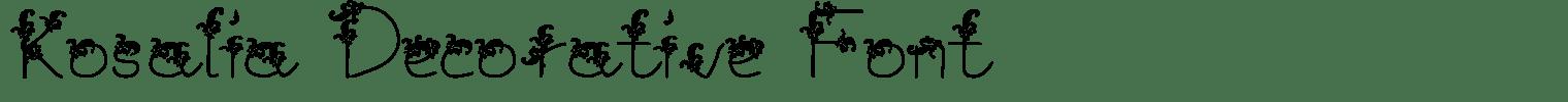 Kosalia Decorative Font