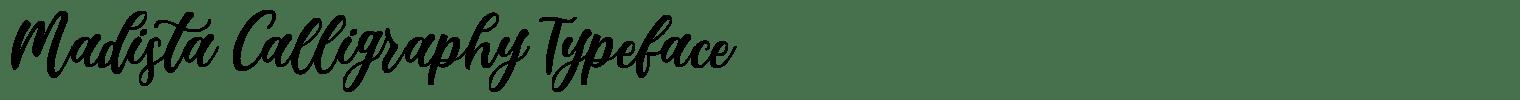 Madista Calligraphy Typeface