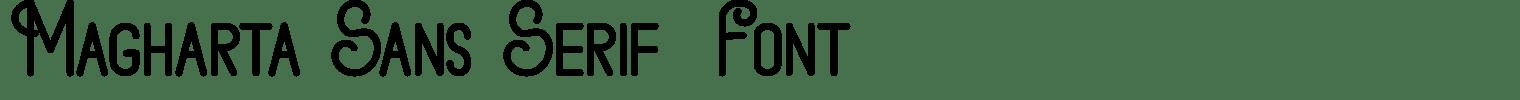 Magharta Sans Serif  Font