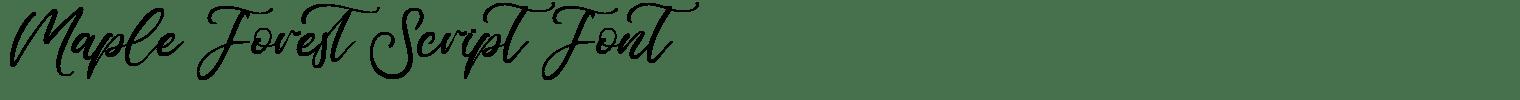 Maple Forest Script Font
