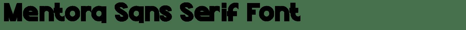 Mentora Sans Serif Font