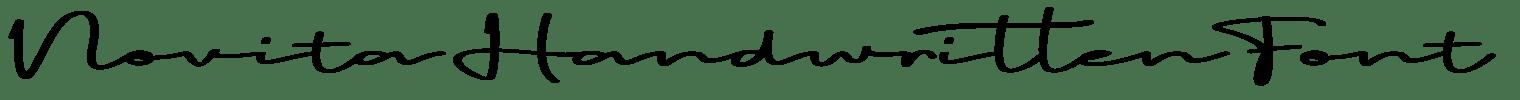 Novita Handwritten Font