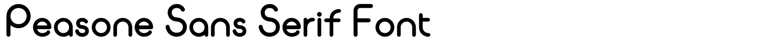 Peasone Sans Serif Font