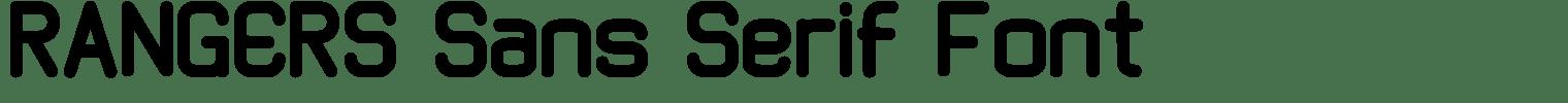 RANGERS Sans Serif Font
