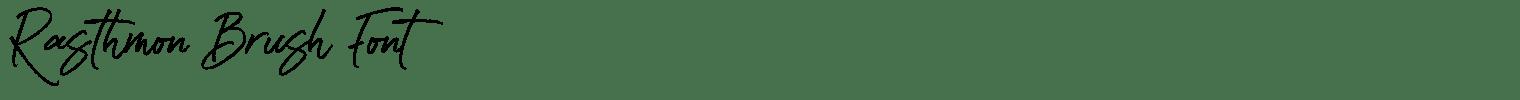 Rasthmon Brush Font