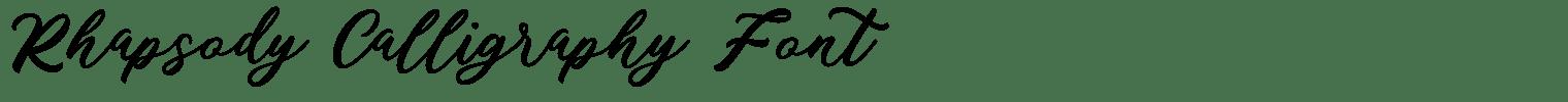 Rhapsody Calligraphy Font