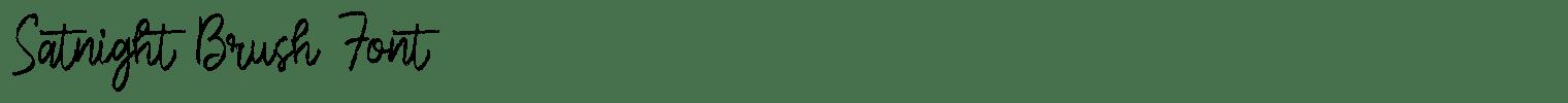 Satnight Brush Font