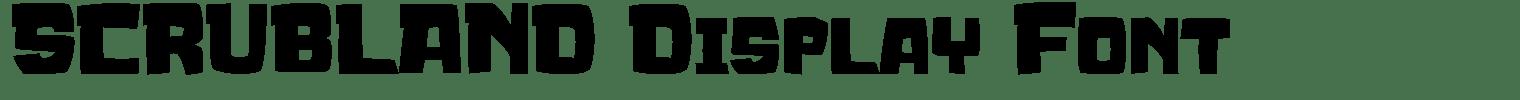 SCRUBLAND Display Font