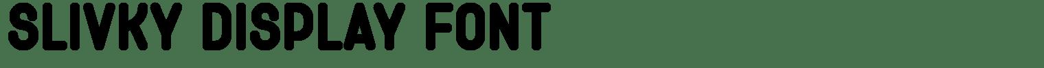 Slivky Display Font