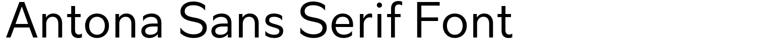 Antona Sans Serif Font