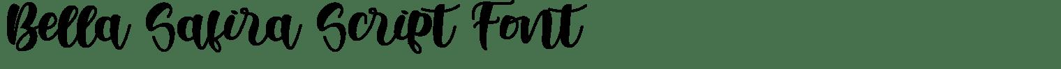 Bella Safira Script Font